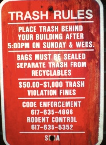 $1,000 fine for disposal of rubbish in the city of Boston