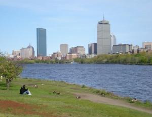 Boston Back Bay vista da Cambridge