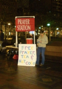 Stazione di preghiera a Copley Square