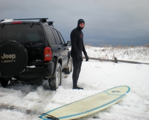 Surf sull'oceano...ghiacciato!