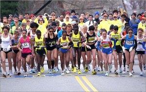 La maratona di Boston, foto di www.boston.com