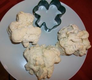 I miei american biscuit a forma di trifoglio!