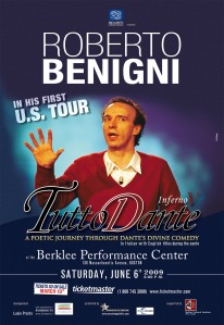 Benigni al Berklee Center di Boston