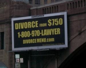 Divorzi a prezzi stracciati. A partire da $750.
